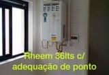 Rheem 36lts com adequação de ponto
